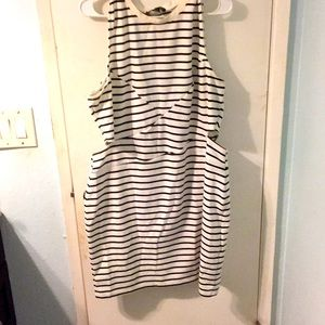 Forever 21 + Black and white cut out dress
